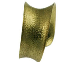 Side Brass Textured Cuff Bracelet